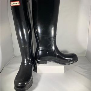 🆕☔️👢HUNTER Women's Size 8 Rain Boots in Black